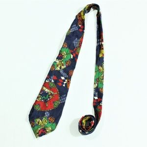 Gianni Versace Couture Silk Multicolor Neck Tie
